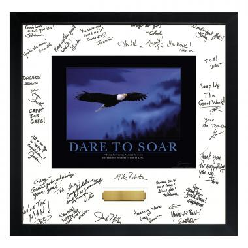 Dare to Soar Framed Signature Motivational Poster