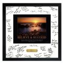 Believe & Succeed Framed Signature Motivational Poster
