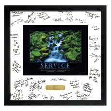 Successories Image Awards - Service Waterfall Framed Signature Motivational Poster