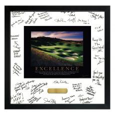 Signature Frames - Excellence Golf Framed Signature Motivational Poster