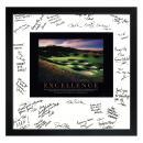 Excellence Golf Framed Signature Motivational Poster