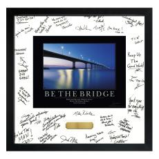 Signature Frames - Be The Bridge Framed Signature Motivational Poster