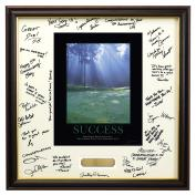 Success Morning Green Framed Signature Motivational Poster
