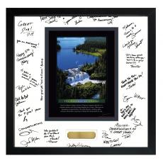 Signature Frames - Change Waterfall Framed Signature Motivational Poster