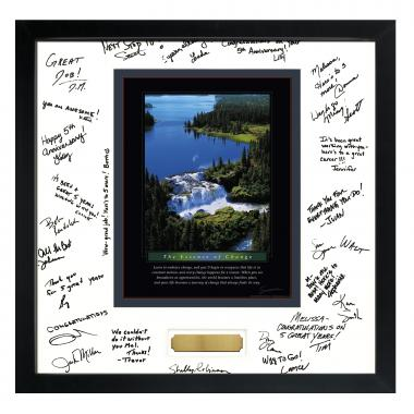 Change Waterfall Framed Signature Motivational Poster