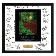 Signature Frames - Service Path Framed Signature Motivational Poster