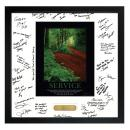 Service Path Framed Signature Motivational Poster