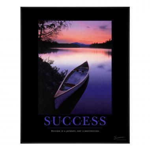 Success Canoe Motivational Poster