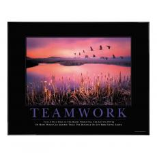 Classic Motivational Posters - Teamwork Framed Motivational Print