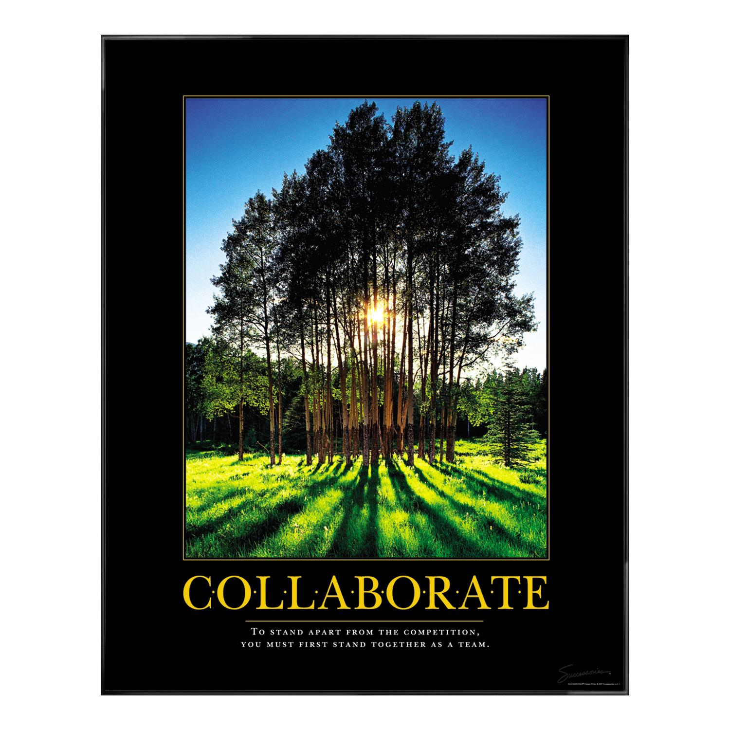 Collaborate Grove Motivational Poster