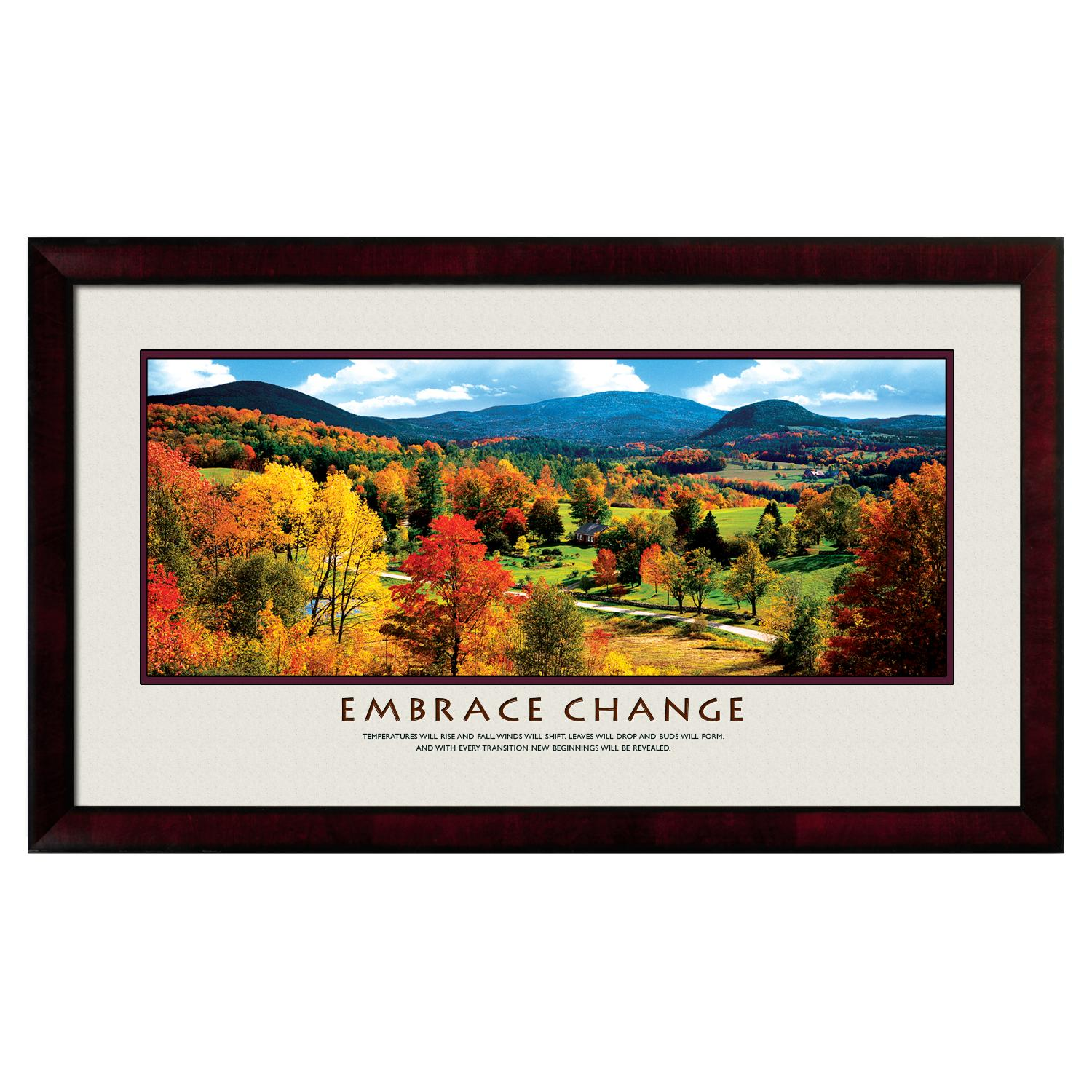 Embrace Change Motivational Poster