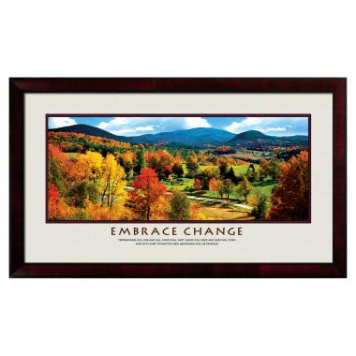 Embrace Change Motivational Poster