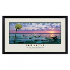 Lifescapes - Rise Above Lily Pads Motivational Poster
