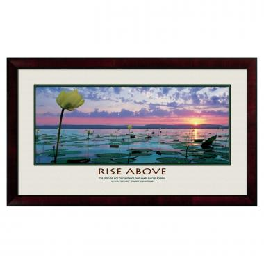 Rise Above Lily Pads Motivational Poster