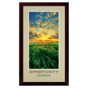 Opportunity New Day Framed Motivational Poster