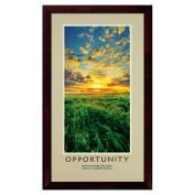 Opportunity New Day Framed Motivational Poster