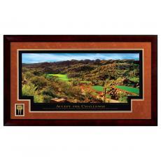 Accept the Challenge Golf Framed Motivational Poster