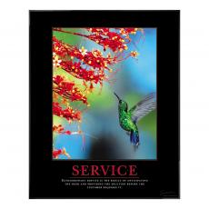 Service Hummingbird Motivational Poster