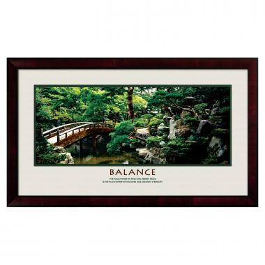 Balance Zen Garden Motivational Poster