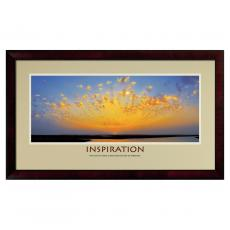 Inspiration Sunburst Framed Motivational Poster