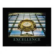 Excellence Clock Motivational Poster