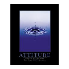 Classic Motivational Posters - Attitude Drop Motivational Poster