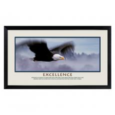 Lifescapes - Excellence Eagle Motivational Poster
