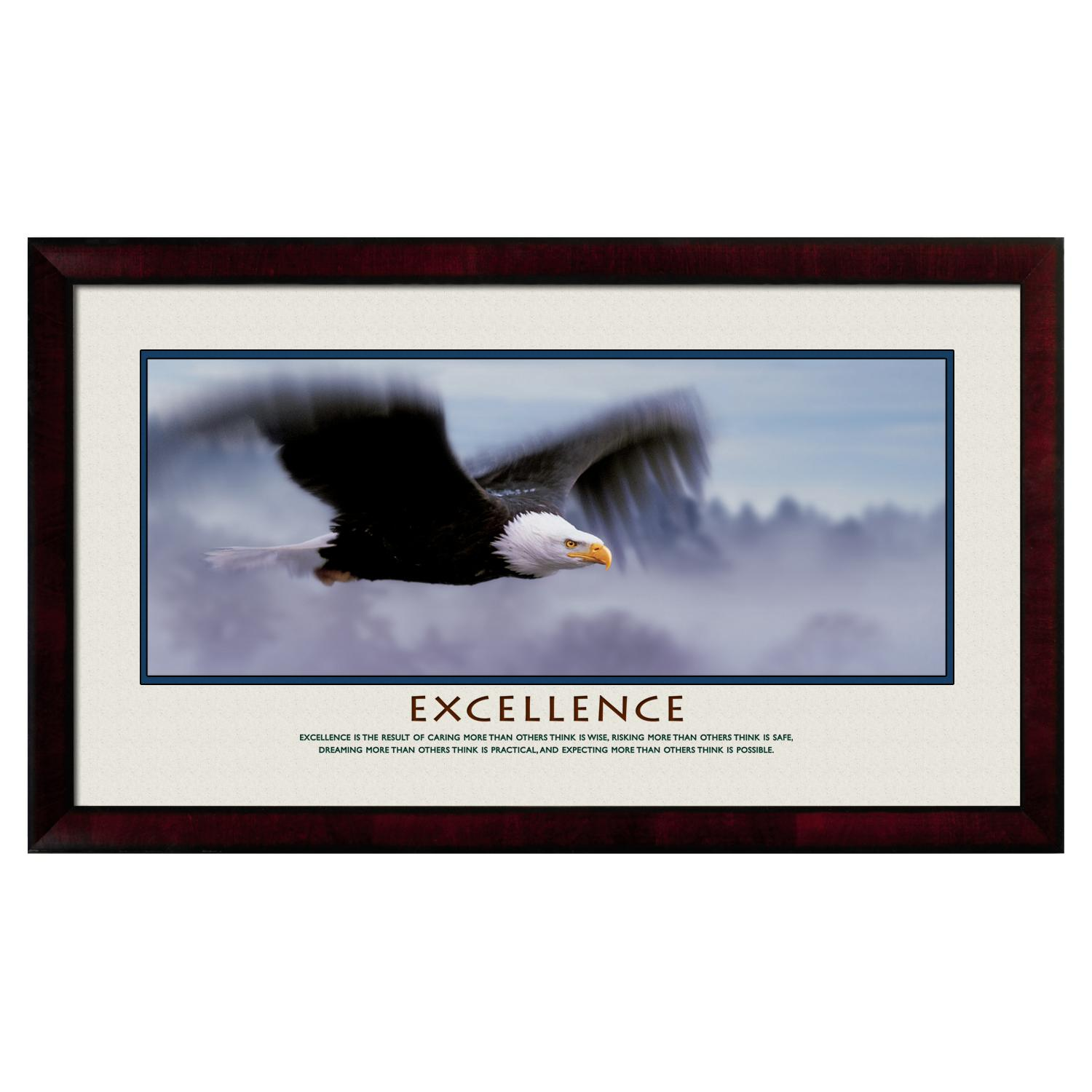 Excellence Eagle Motivational Poster