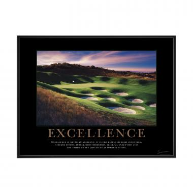 Excellence Golf Mini Motivational Poster