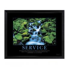 Mini Motivational Posters - Service Waterfall Mini Motivational Poster