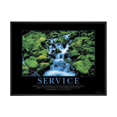 Service Waterfall Mini Motivational Poster