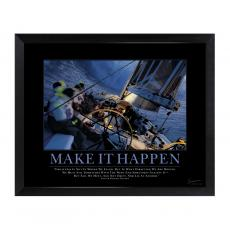 All Motivational Posters - Make It Happen Sailboat Mini Motivational Poster