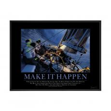 Make It Happen Sailboat Mini Motivational Poster  (732807)
