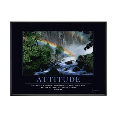 Attitude Rainbow Mini Motivational Poster