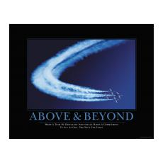 Shop by Occasion - Above & Beyond Motivational Poster