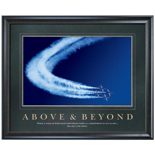 Above & Beyond Motivational Poster