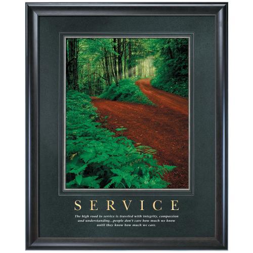 Service Motivational Poster