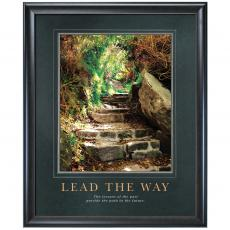 Lead The Way Stone Path Motivational Poster