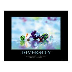 Classic Motivational Posters - Diversity Marbles Motivational Poster