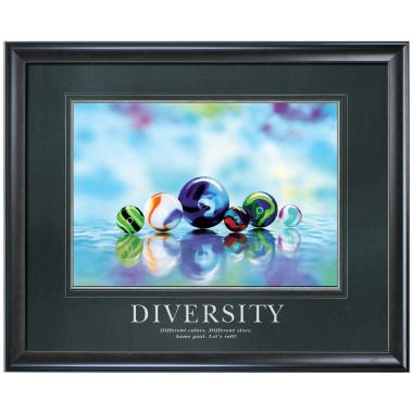 Diversity Marbles Motivational Poster