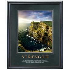 Strength Cliff Motivational Poster