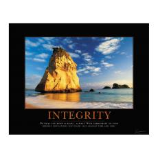 Classic Motivational Posters - Integrity Cathedral Rock Motivational Poster