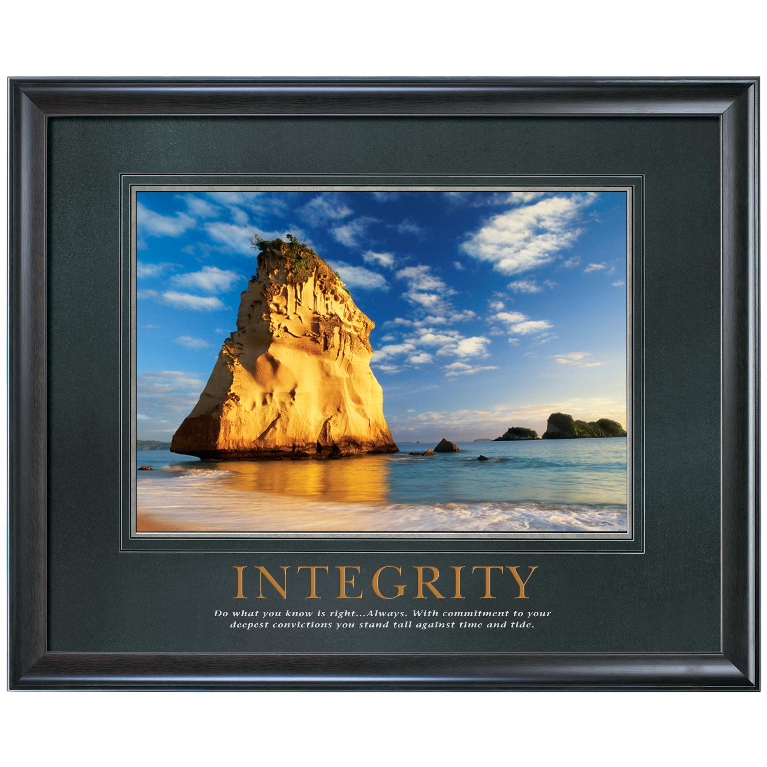Integrity Cathedral Rock Motivational Poster