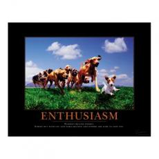 Enthusiasm Dogs Motivational Poster