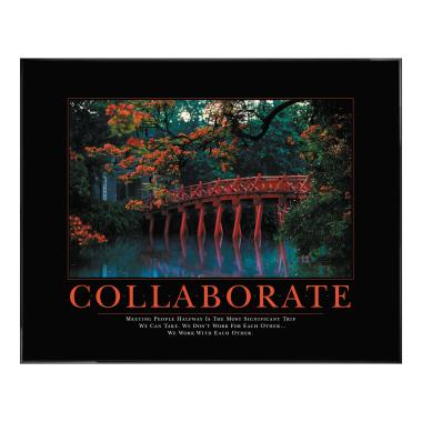 Collaborate Motivational Poster