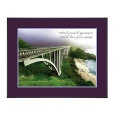 Pacific Bridge Framed Motivational Poster