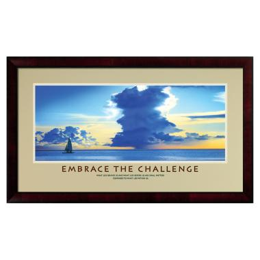 Embrace The Challenge Framed Motivational Poster