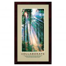 Collaborate Sunshine Framed Motivational Poster