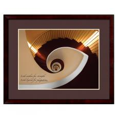 Spiral Stairway Framed Motivational Poster