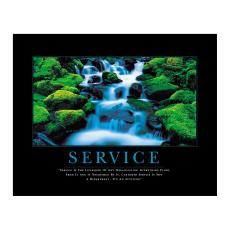 Customer Service Week - Service Waterfall Motivational Poster